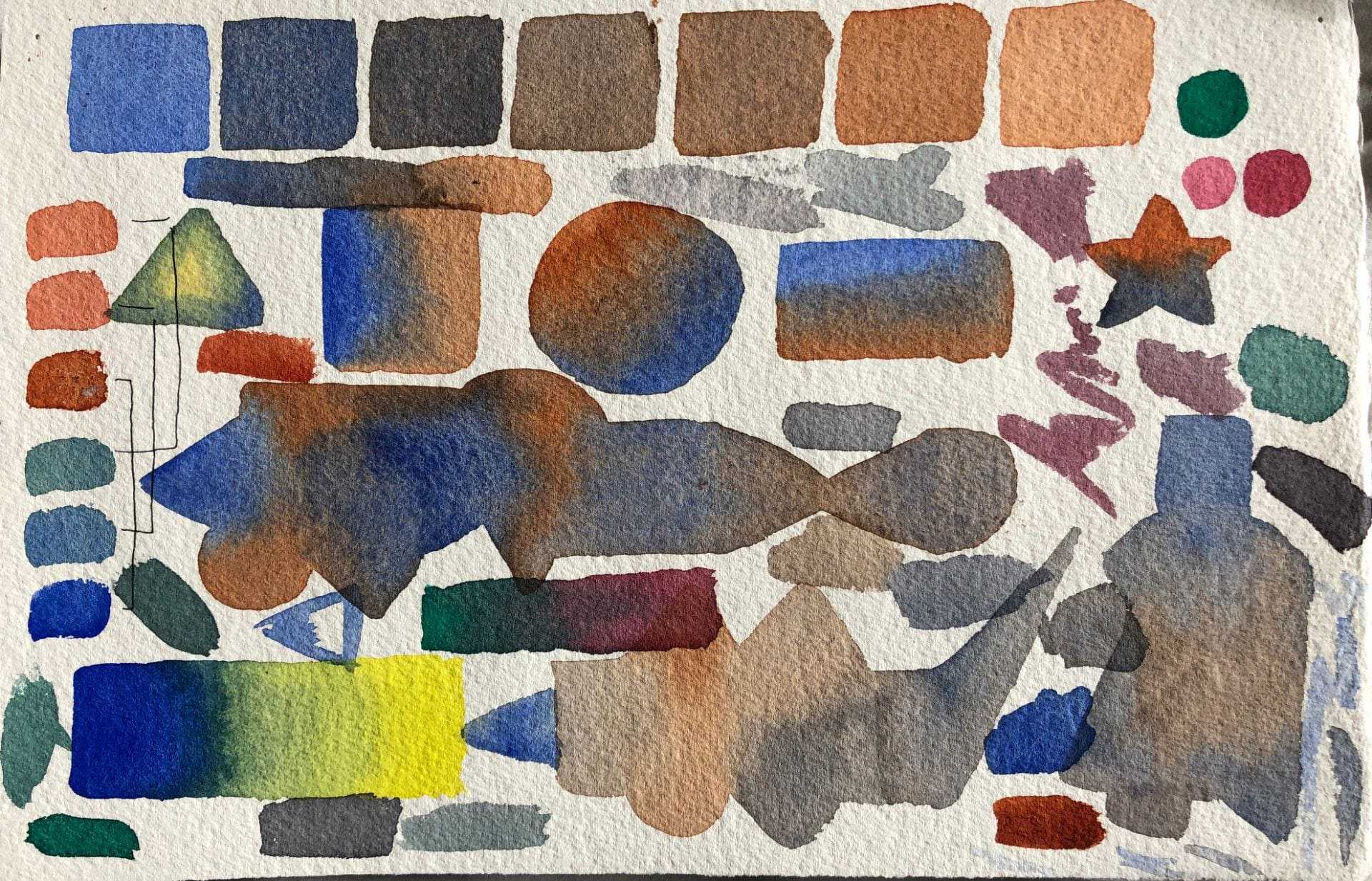 Drawing/Imaging – Week 6: Watercolor Chroma Neutralization