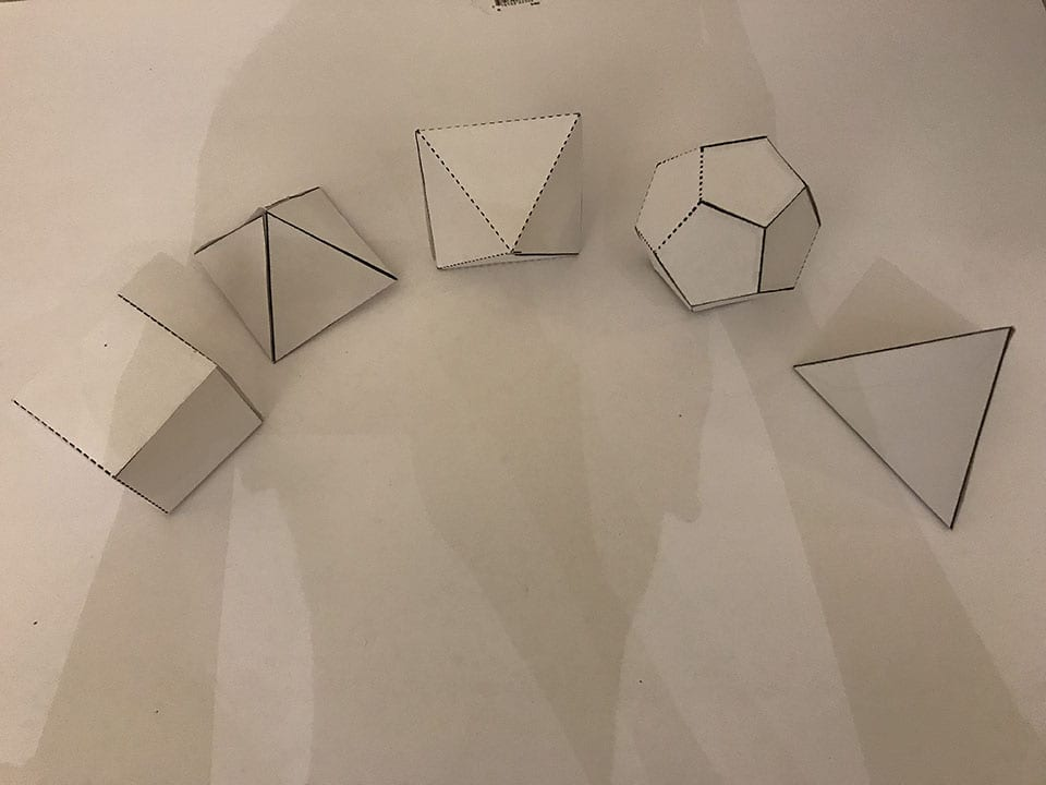 ASSIGNMENT #5 3D paper folding- Polyhedrons