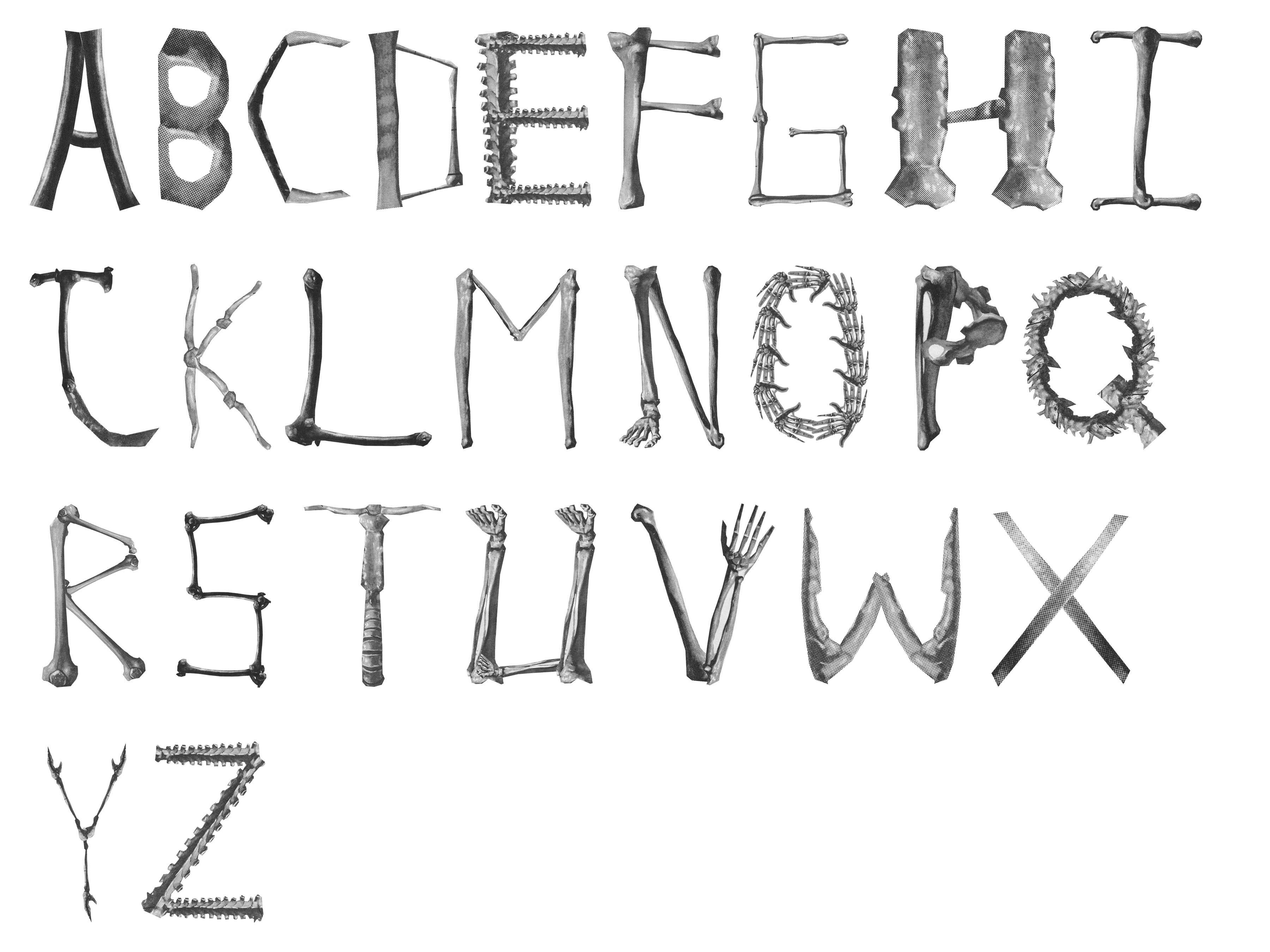 Skeleton Alphabet