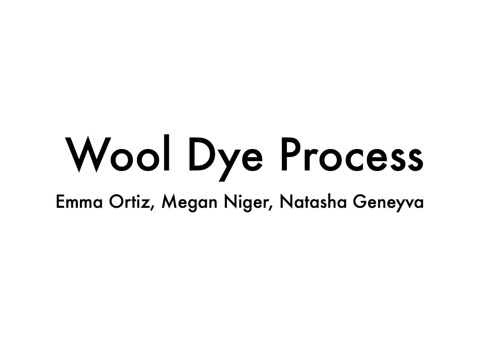Wool Dying Experience