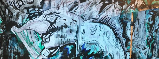 S.E. Corner of Lair0 Mural at Swampspace