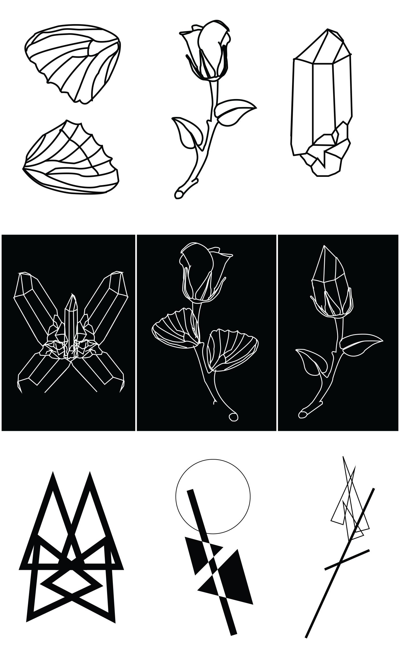 Digital Artifacts Line Art + Symbols