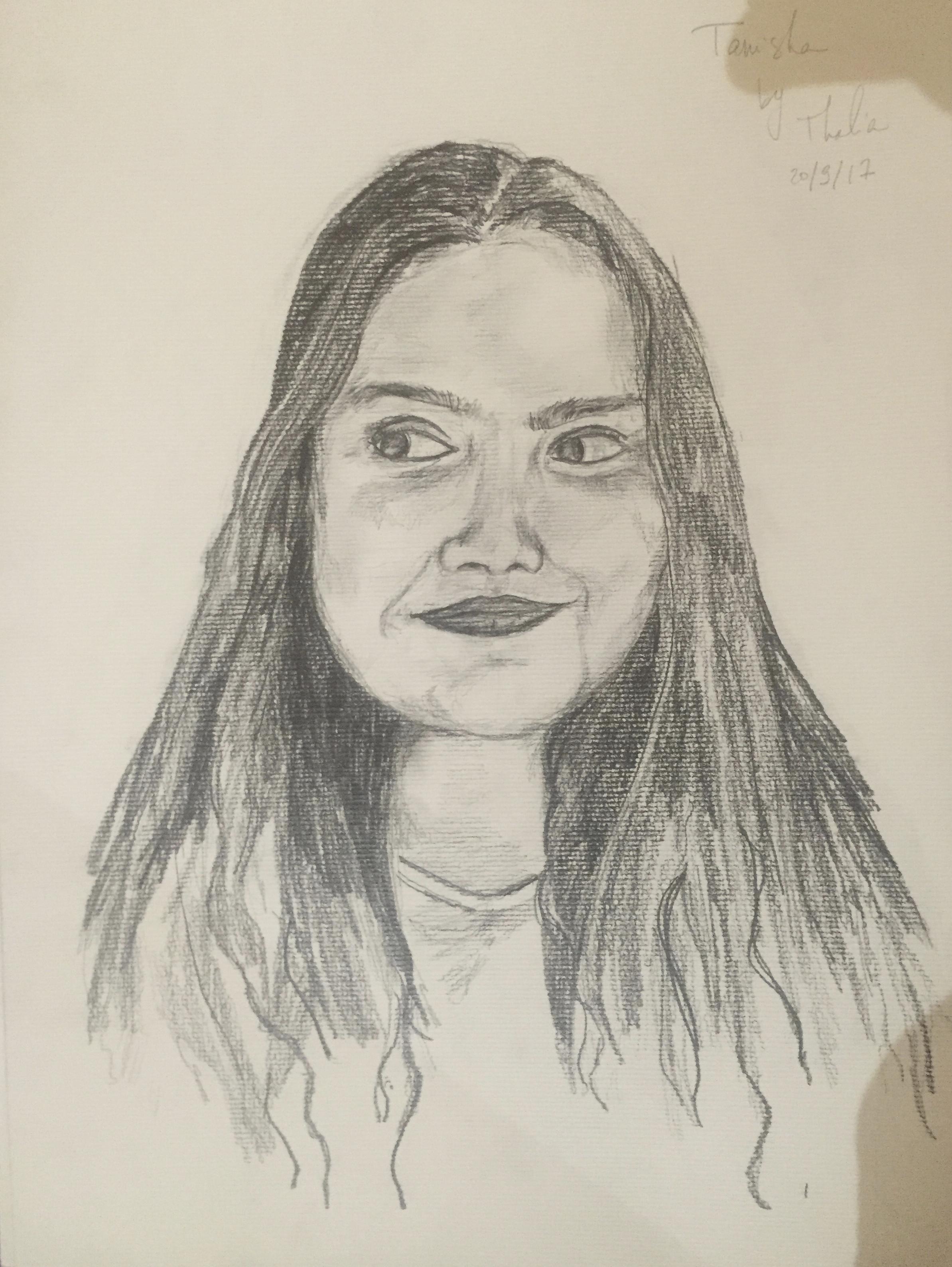 Portrait of a friend – A3 pencil