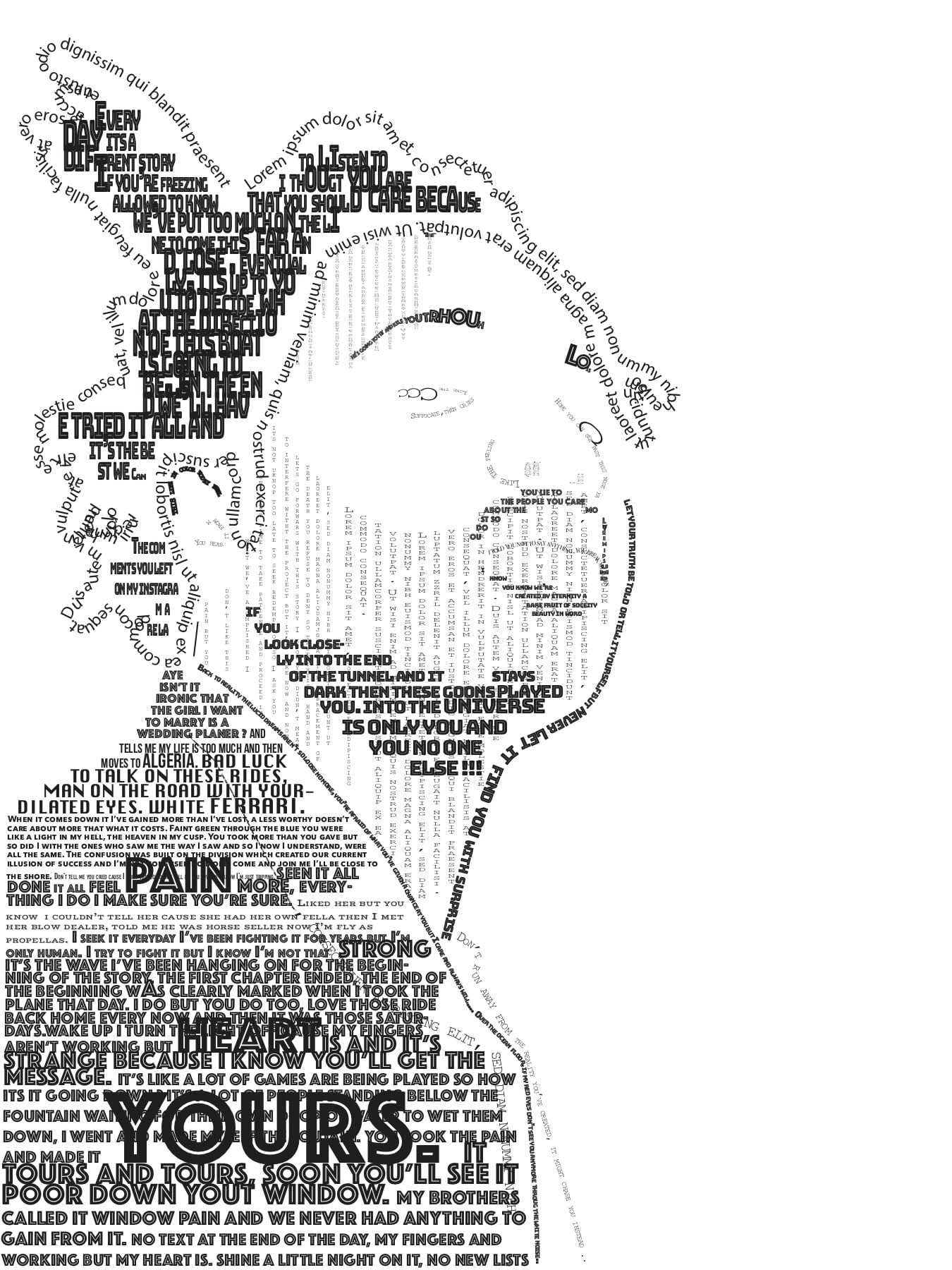Text portrait (Drawing imaging)