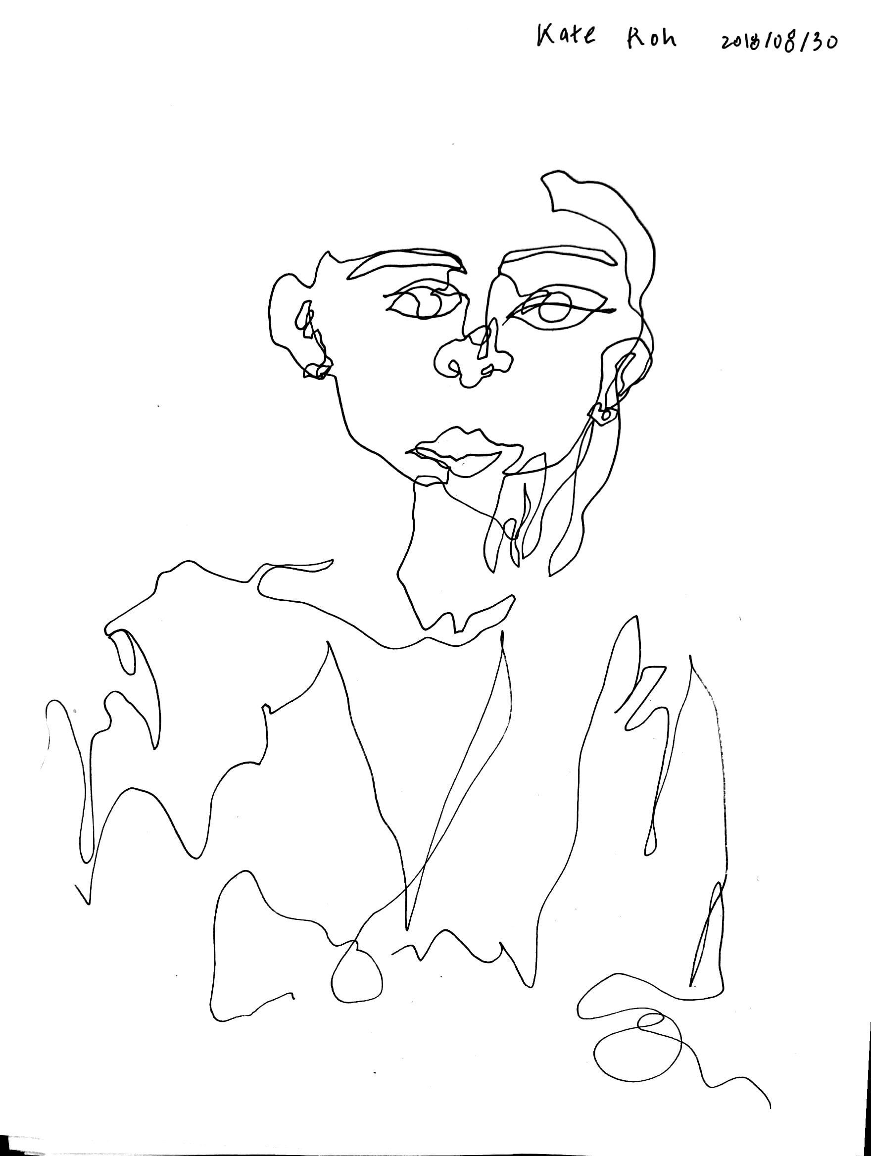 Self as Blind Contour Drawing