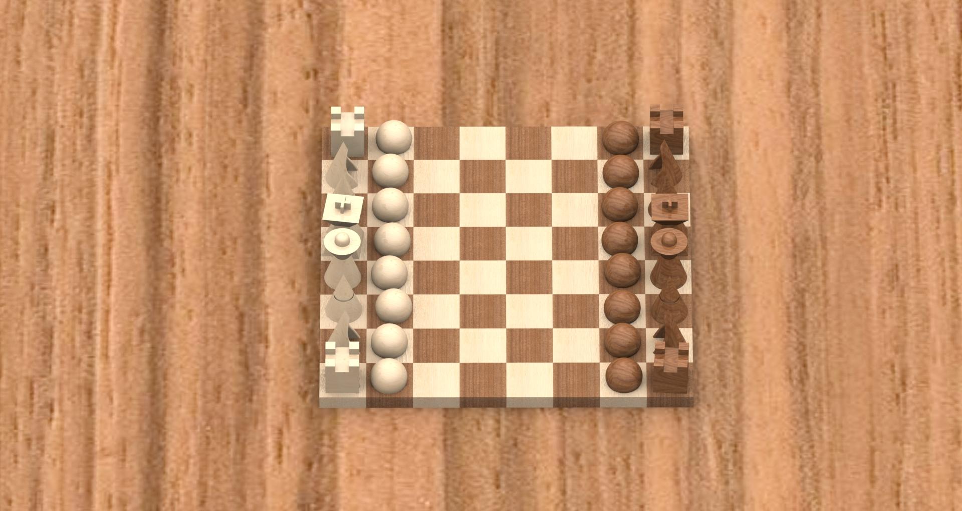 chess set design matias botero