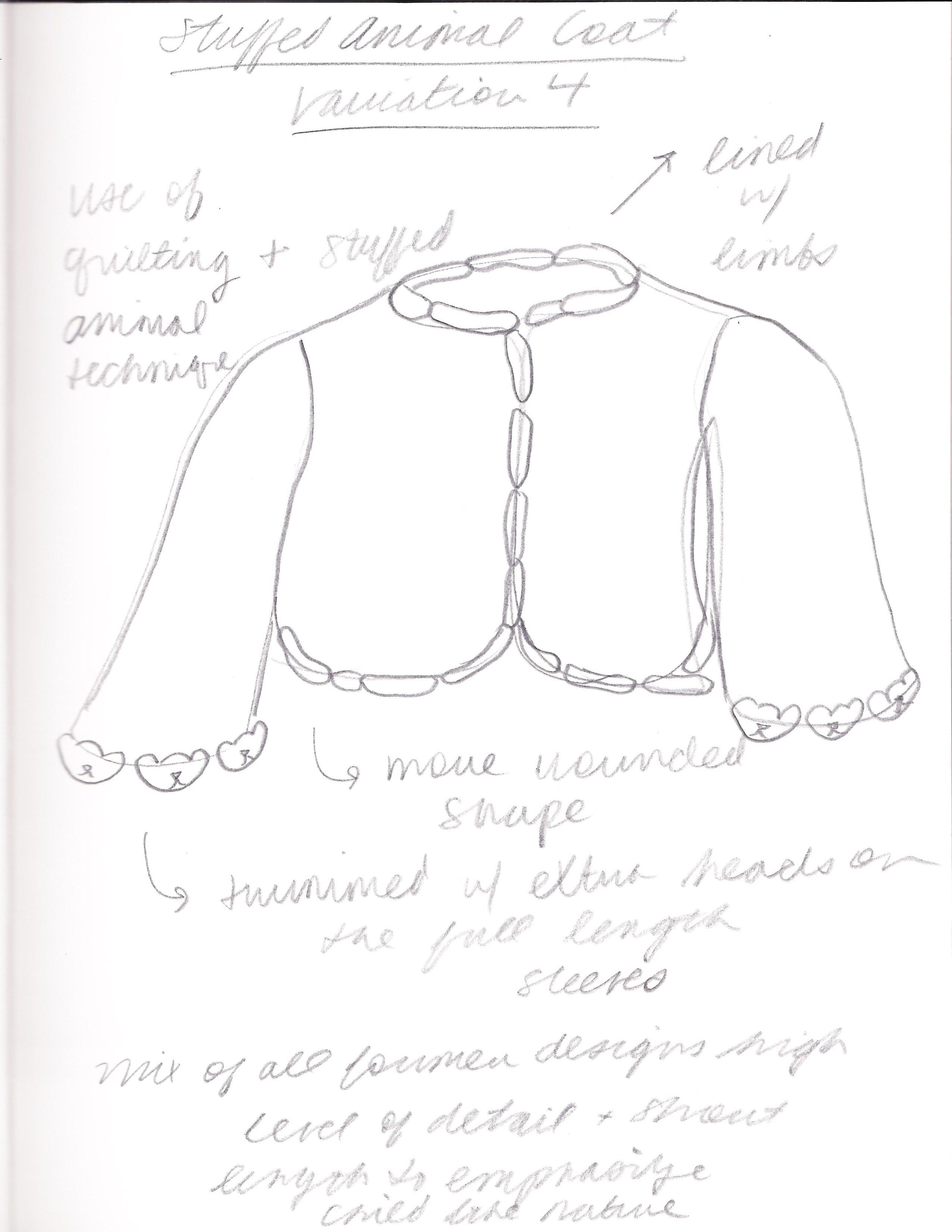 Stuffed Animal Jacket Sketches