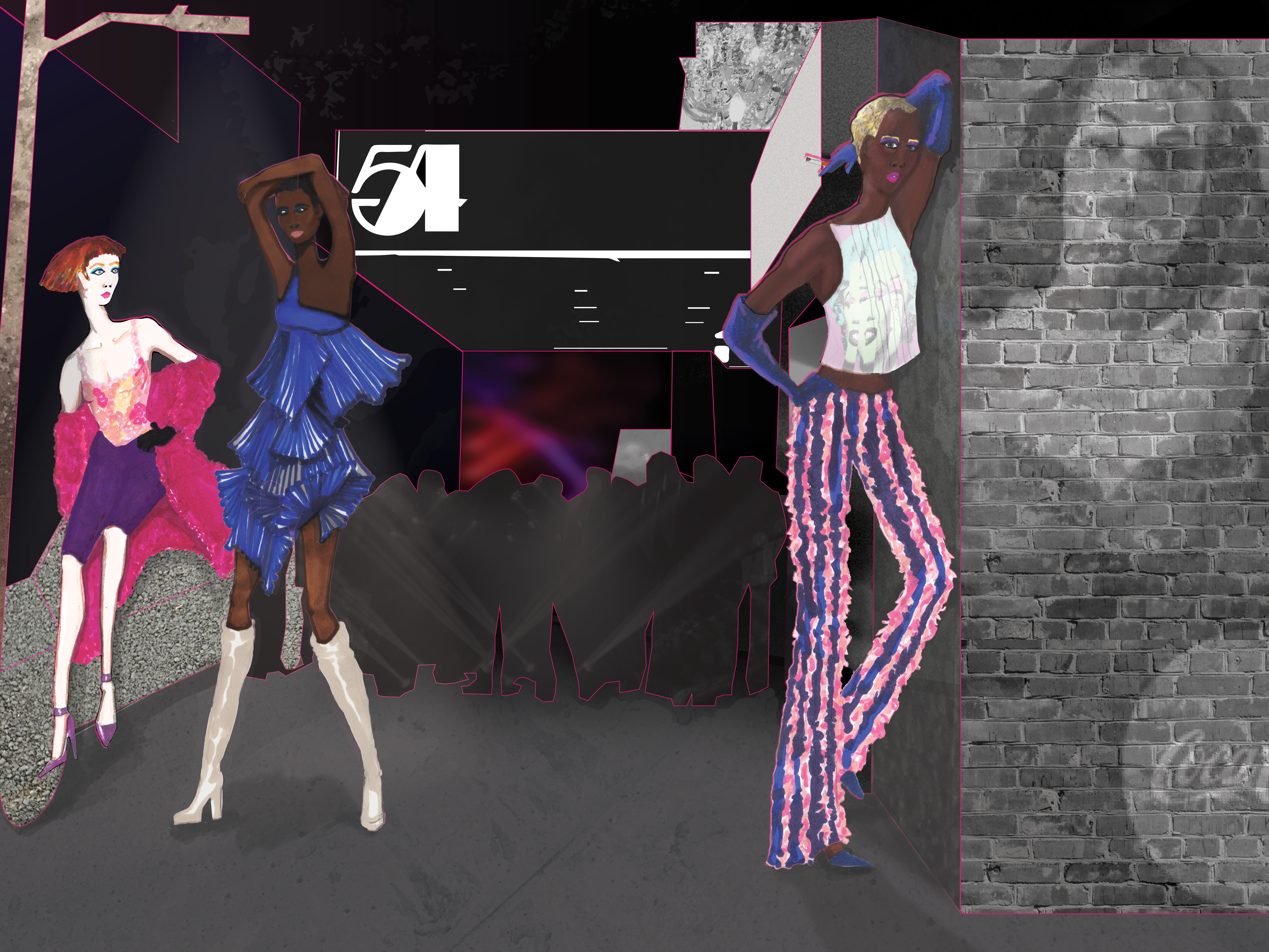 Final Narrative Based Editorial – Fashion Illustration