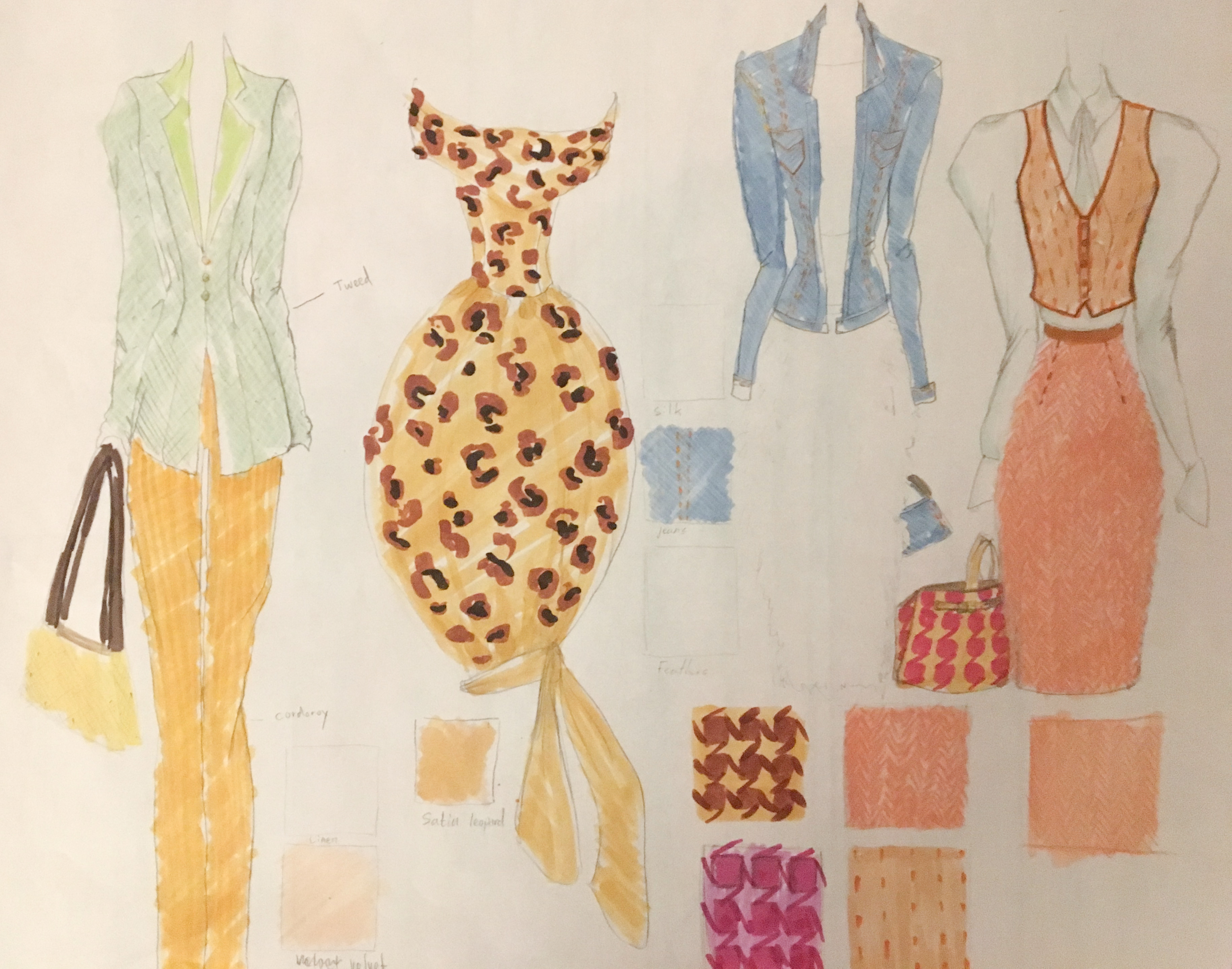 Fabric Rendering – Fashion Illustration