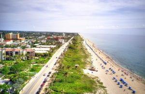 Aerial photo of coastline and beach