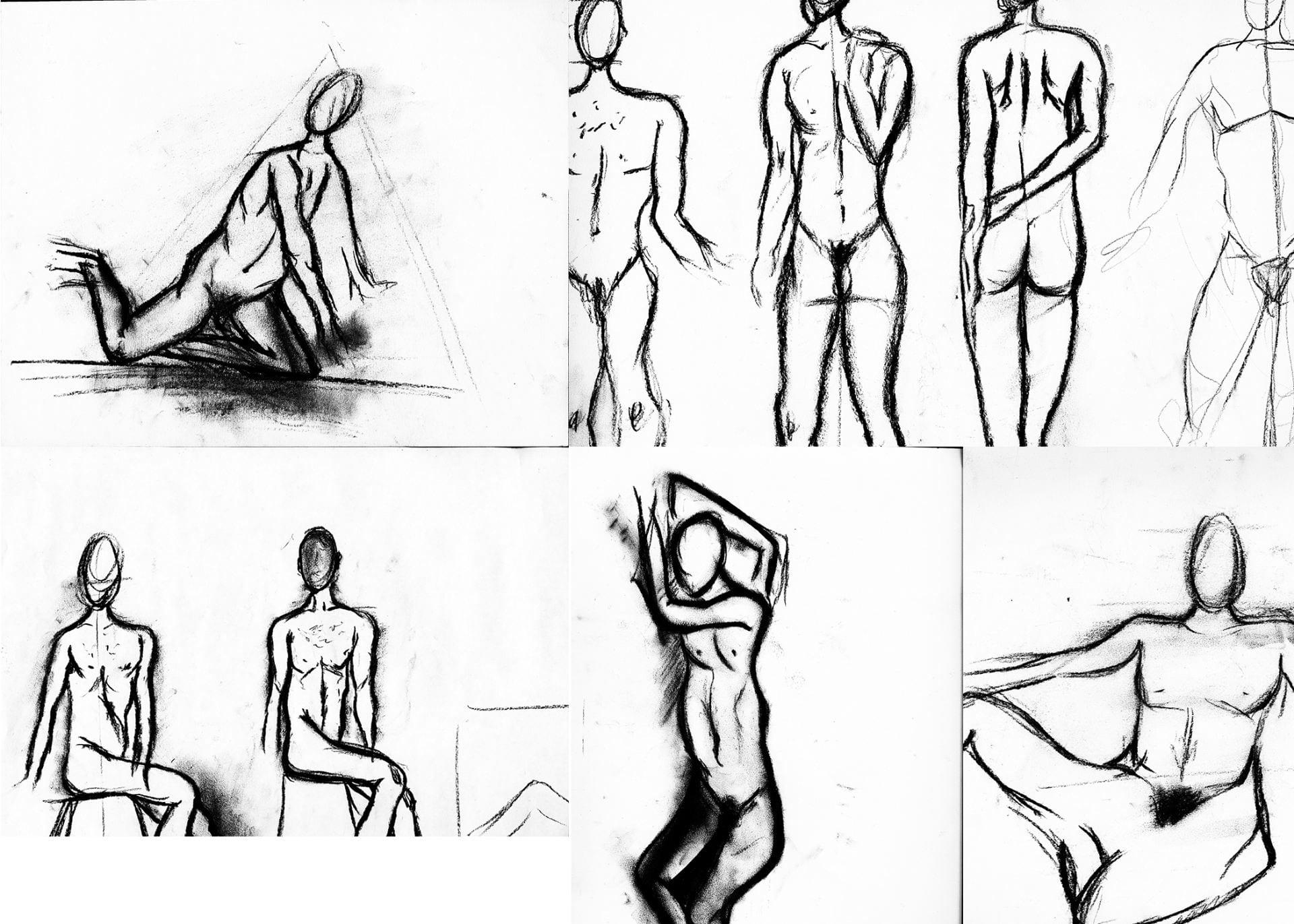 Nude Model Drawings