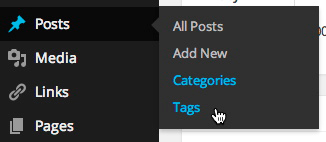 Categories and Tags in the Dashboard