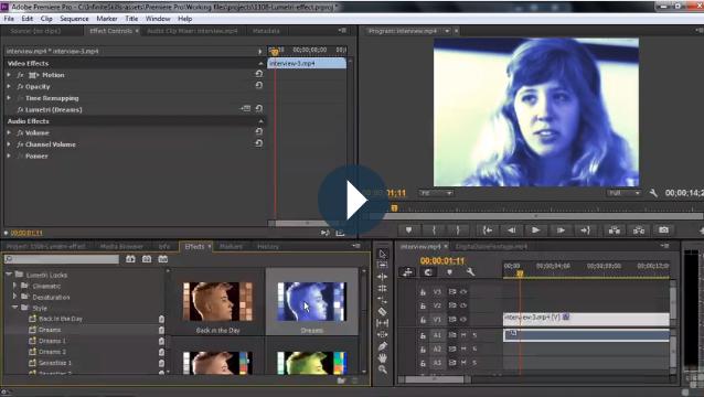 Premiere – Apply Lumetri Looks
