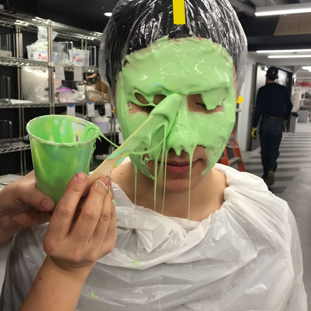 Studio – head plaster model making