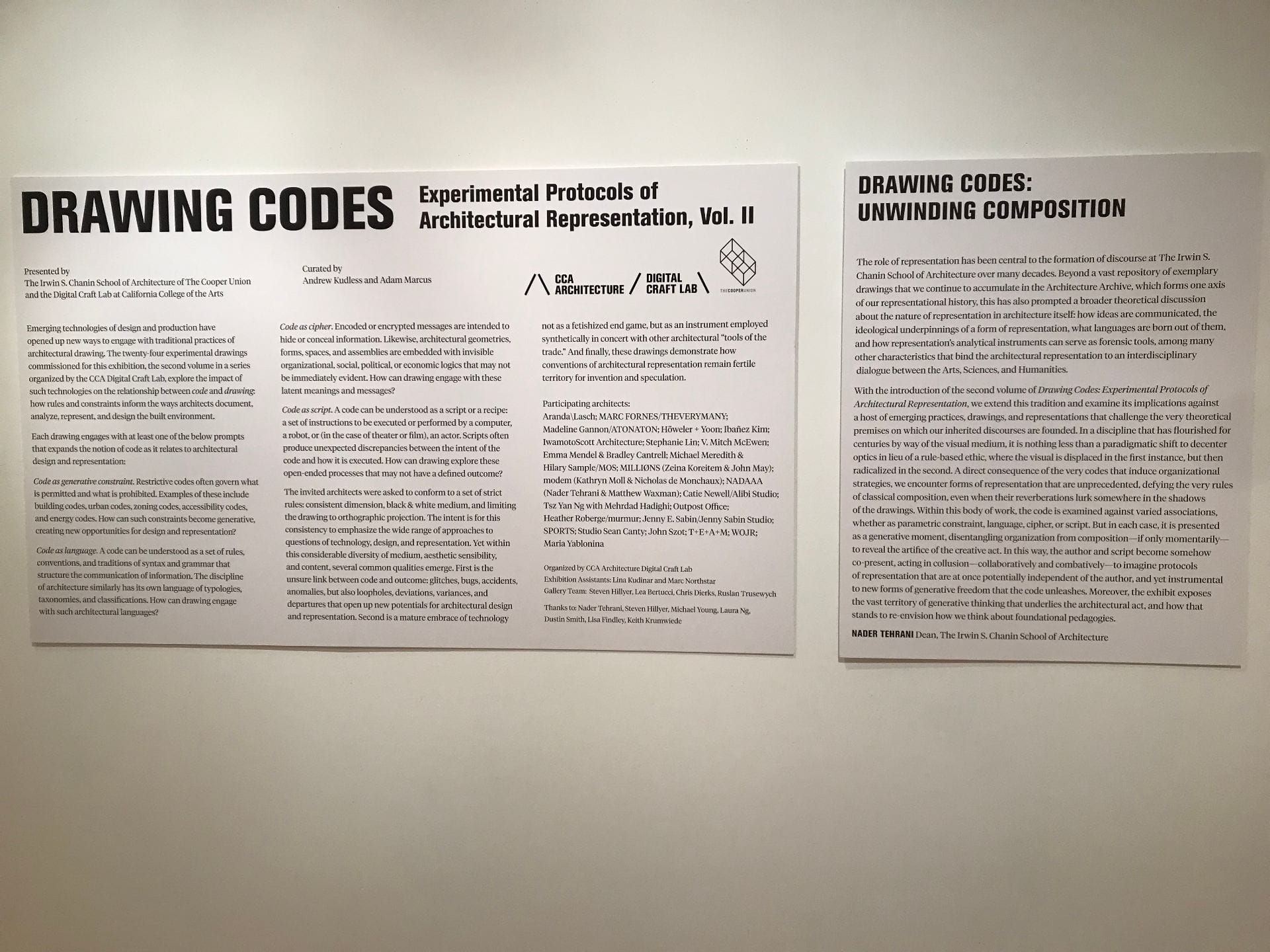 Drawing Code Exhibition