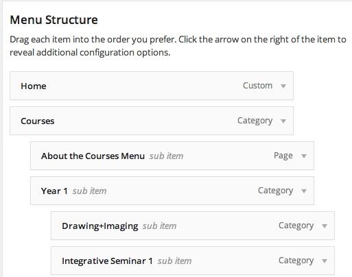 menu-structure