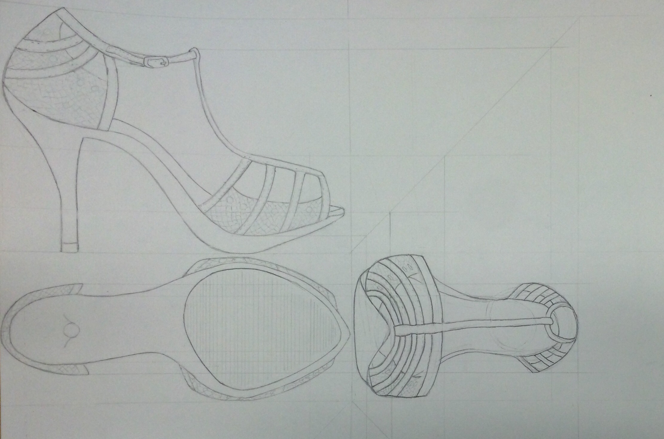 Orthographic Shoe Drawing