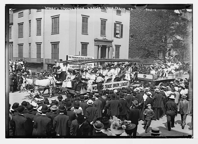 Bain News Service, Publisher. Women's Trade Union League, Labor Parade '08. 9/7/08 date created or published later by Bain. Image. Retrieved from the Library of Congress, .