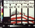 Amherst Cultural Workers Collective, Sponsor/Advertiser. What Betsy Ross did as an act of freedom is now being done behind bars by women in prison: 1976: what are we celebrating?. 1976. Image. Retrieved from the Library of Congress, .