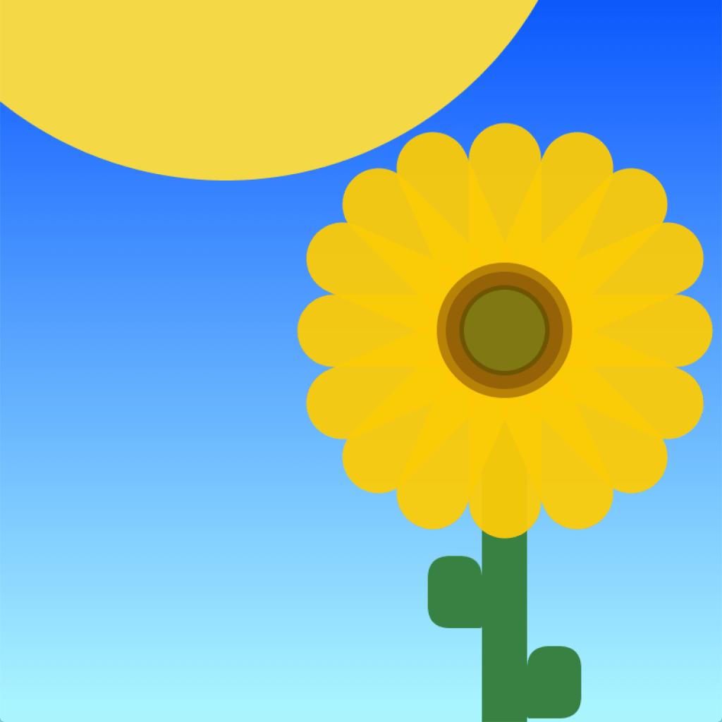 Interactive Processing Sketch – Sunflower