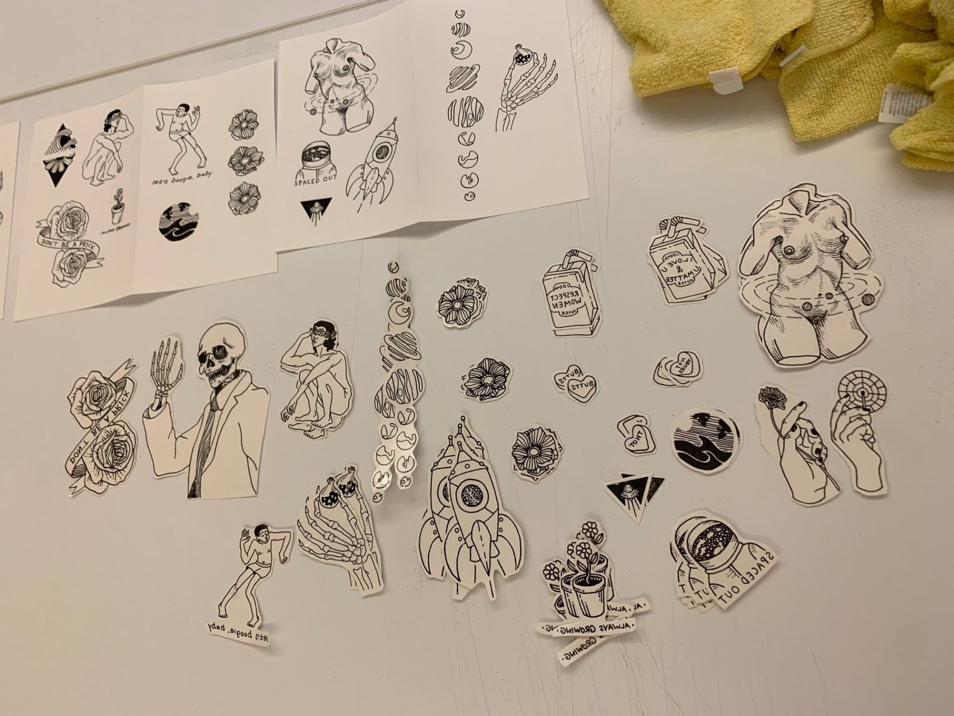 Tattoo Flash Sheets For Studio 2 Visual Culture Charlotte Waltz Rieber