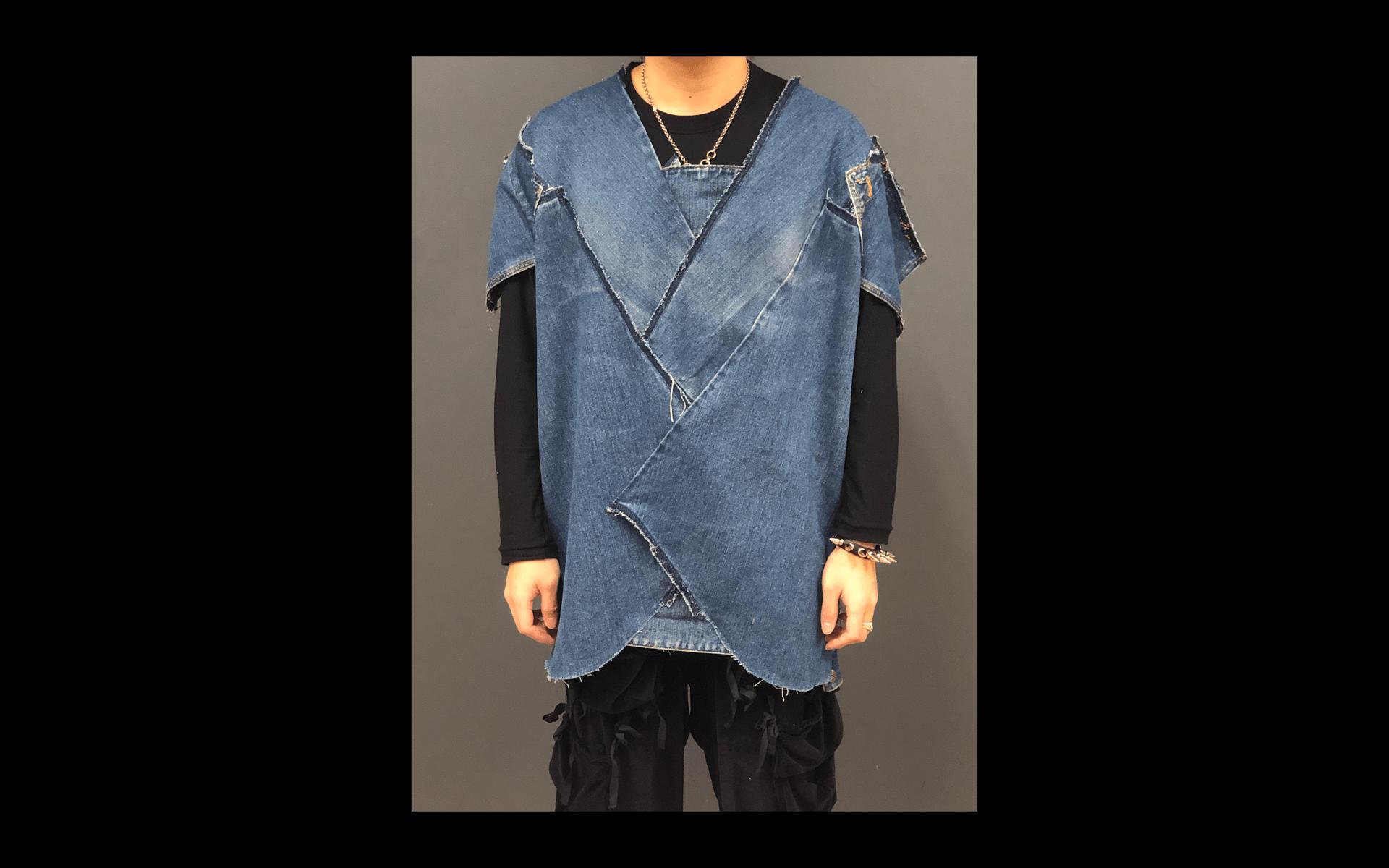 denim oversized t-shirts inspired by Yohji Yamamoto