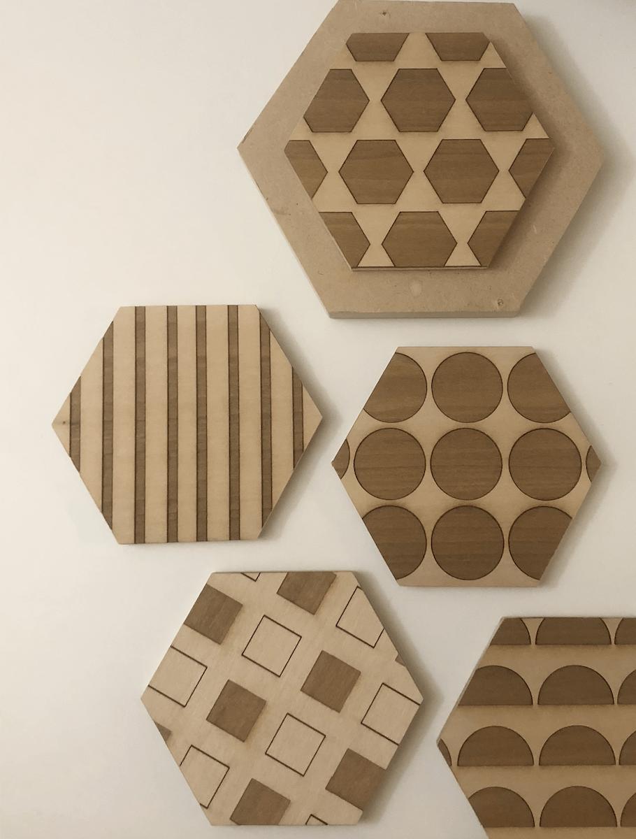 [ digital craft ] coding patterns – turning them into coasters