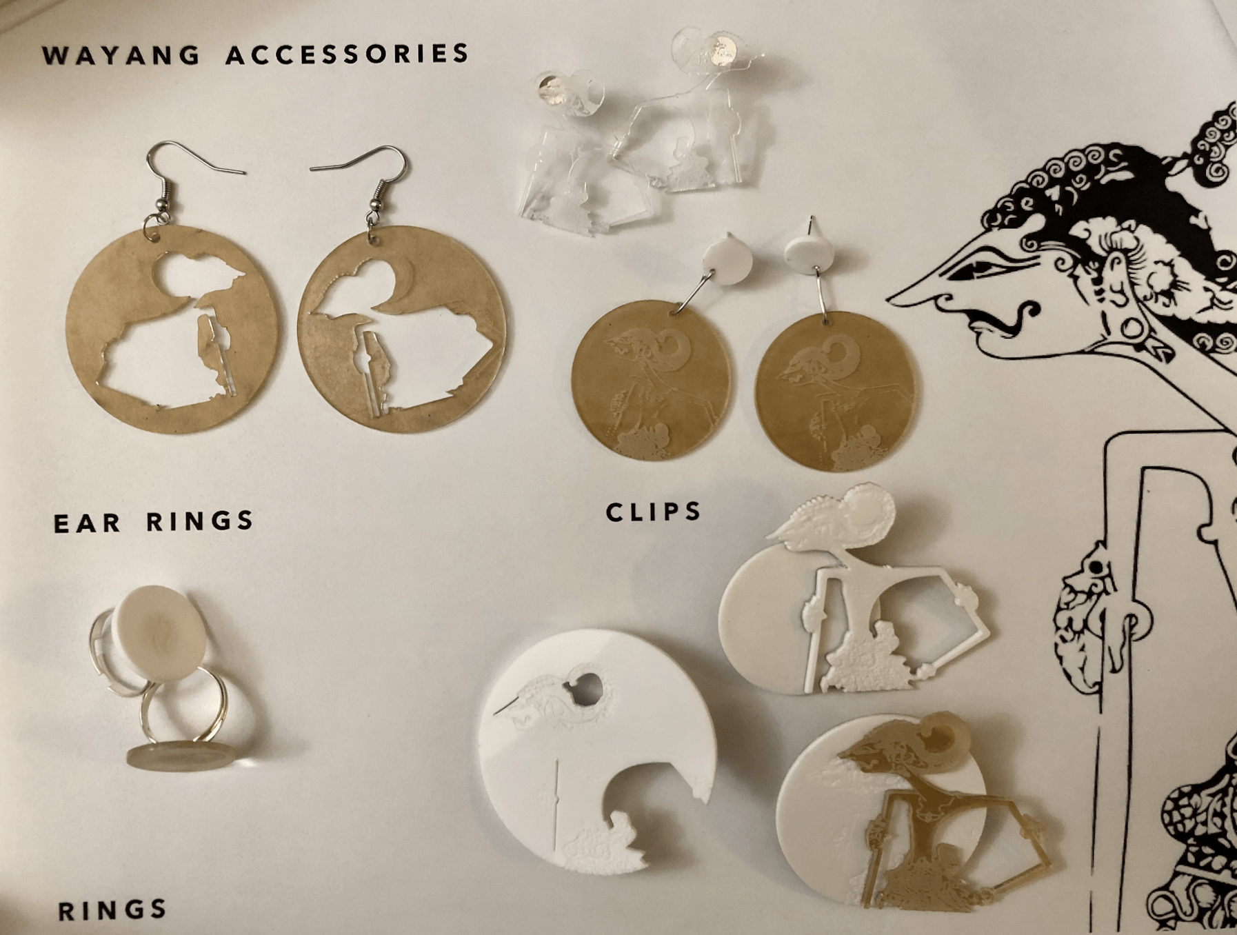 [ digital craft ] mid-term jewelry – wayang accessories