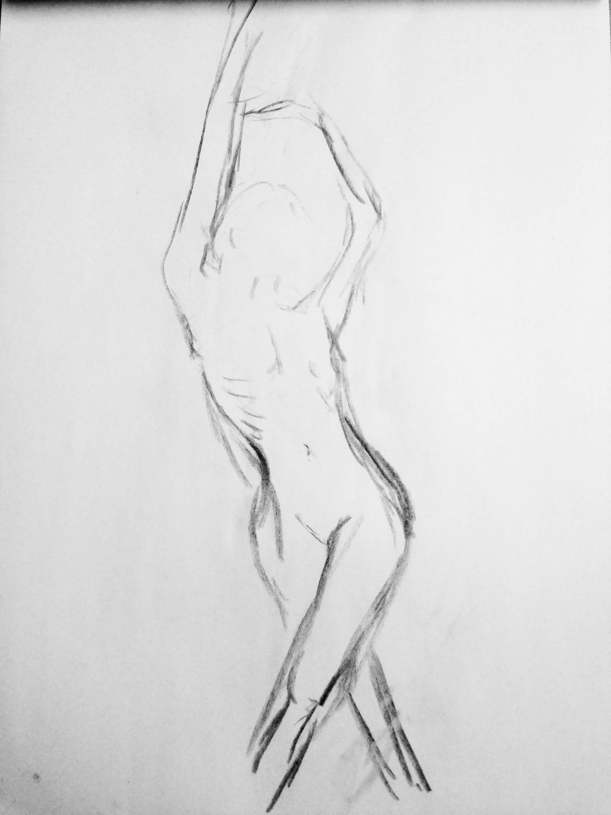 Quick Figure Drawings Live Model Anne Joy
