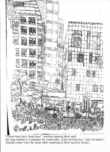 Washington Square Park Drawing 2