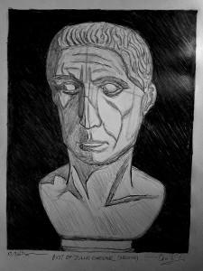 Redone Julius Caesar Bust Drawing