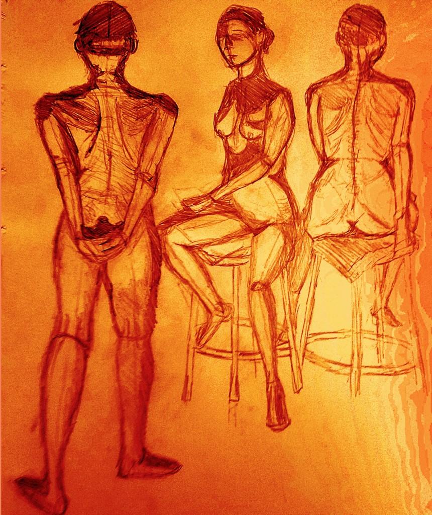 Woman Figure Drawing Modified