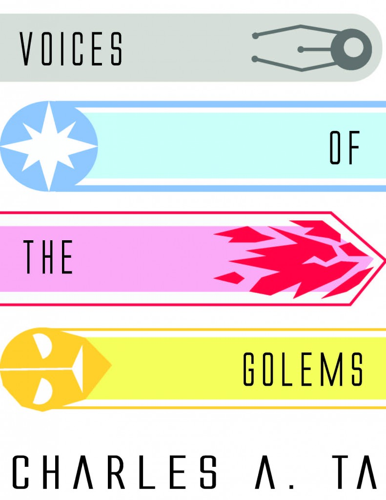 Minimalist Book Cover 2-- Voices of the Golems