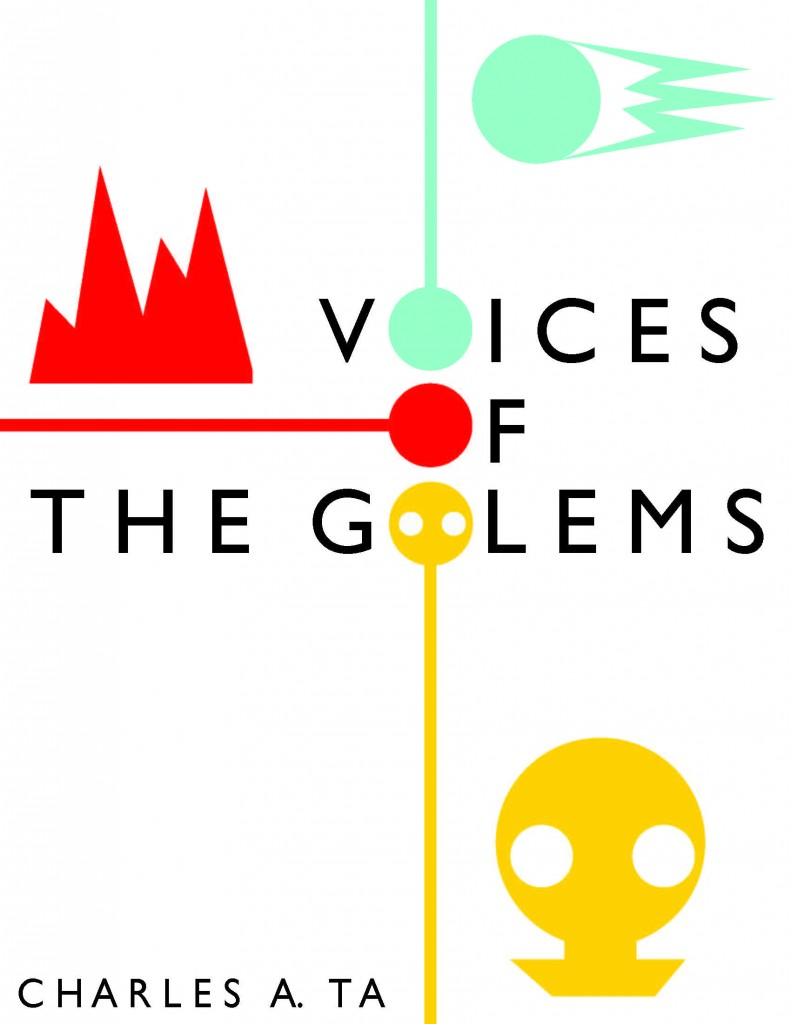 Minimalist Book Cover 3-- Voices of the Golems