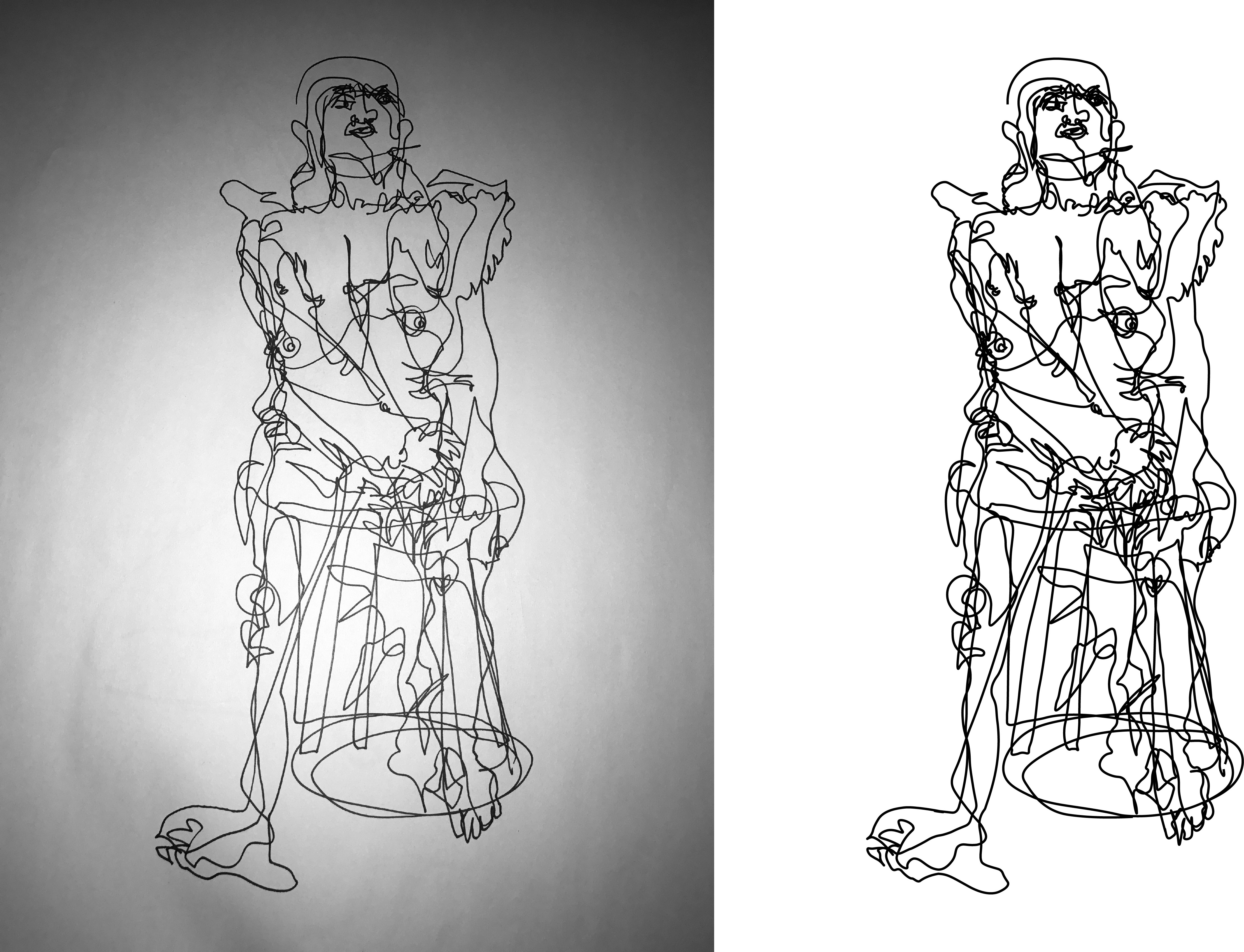 Blind Contour and Contour Lines Illustrator – Jeff Beebe
