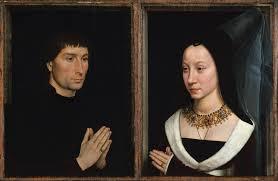 Tommaso di Folco Portinari (1428–1501); Maria Portinari (Maria Maddalena Baroncelli, born 1456).  By Hans Memling