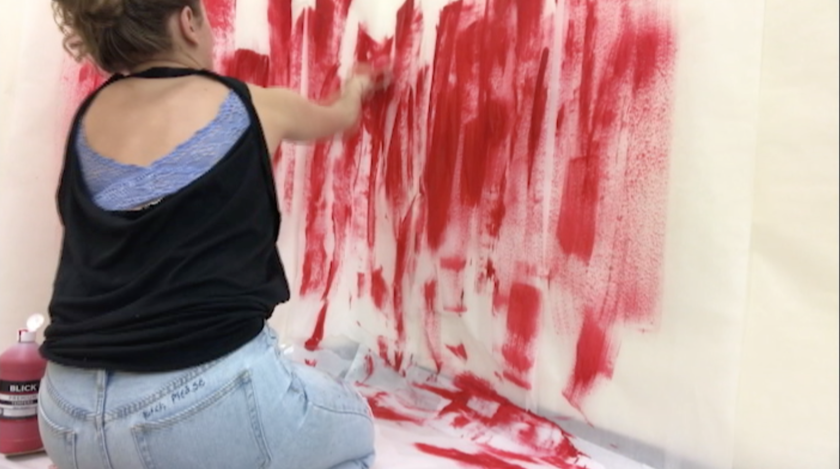 Fetishing Over Red. Art Video