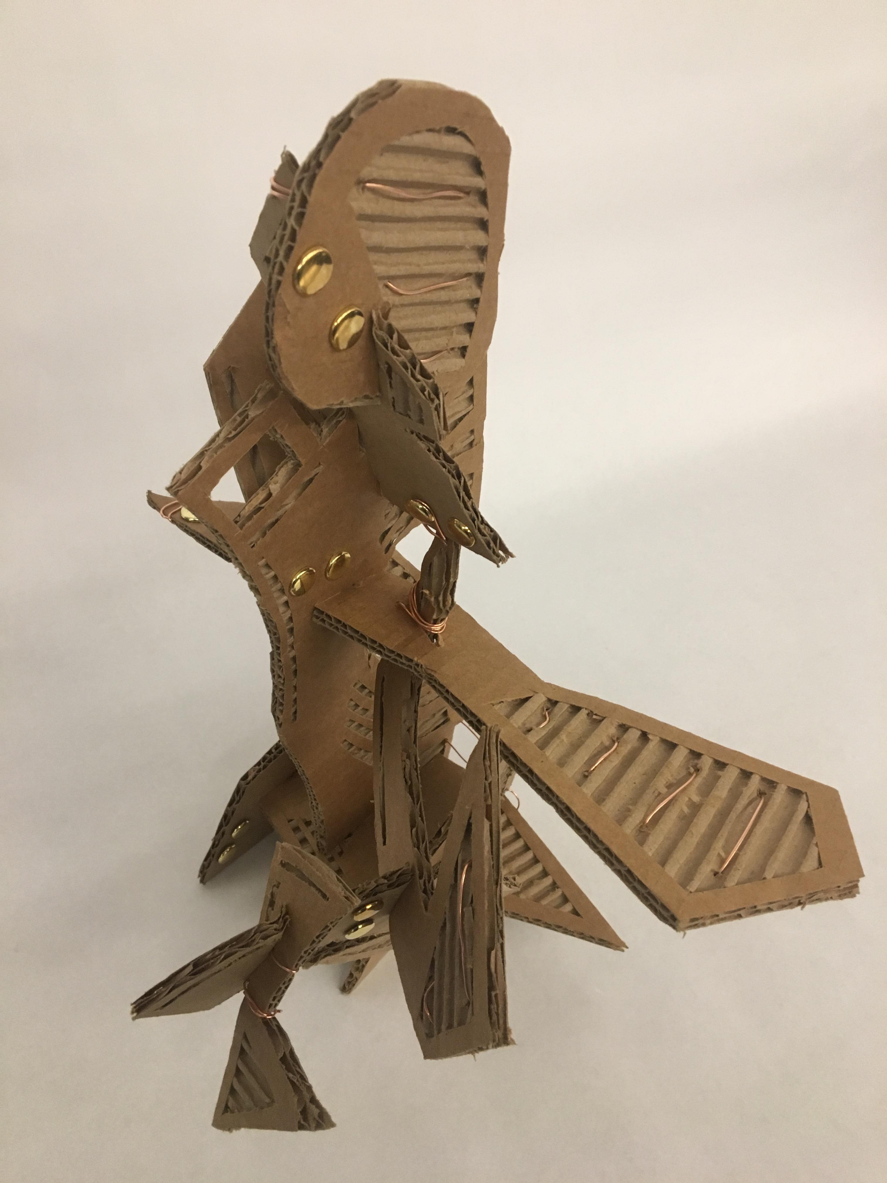 Cardboard Haptic/Textural Studies Sculpture