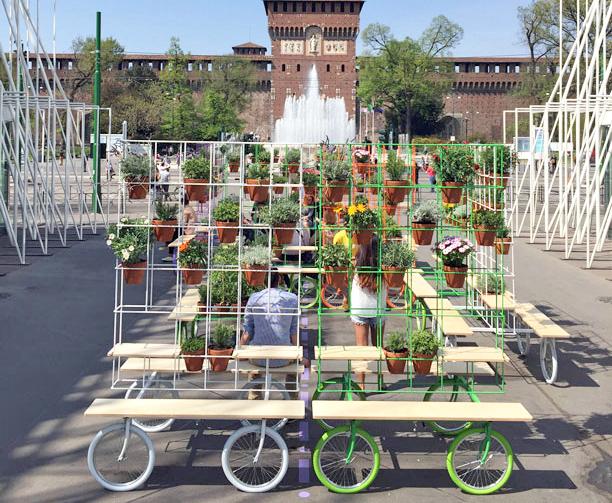 Why not in the garden? – mobile garden installation