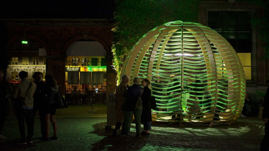 Algae Dome: Food-producing architecture pavilion