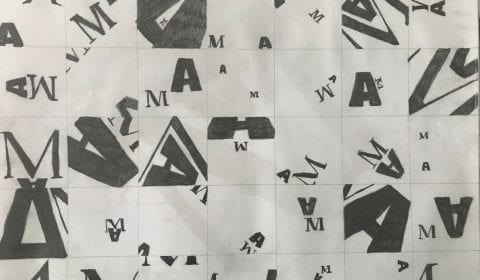Thumbnail Exploration and Layout (Letters A and M)
