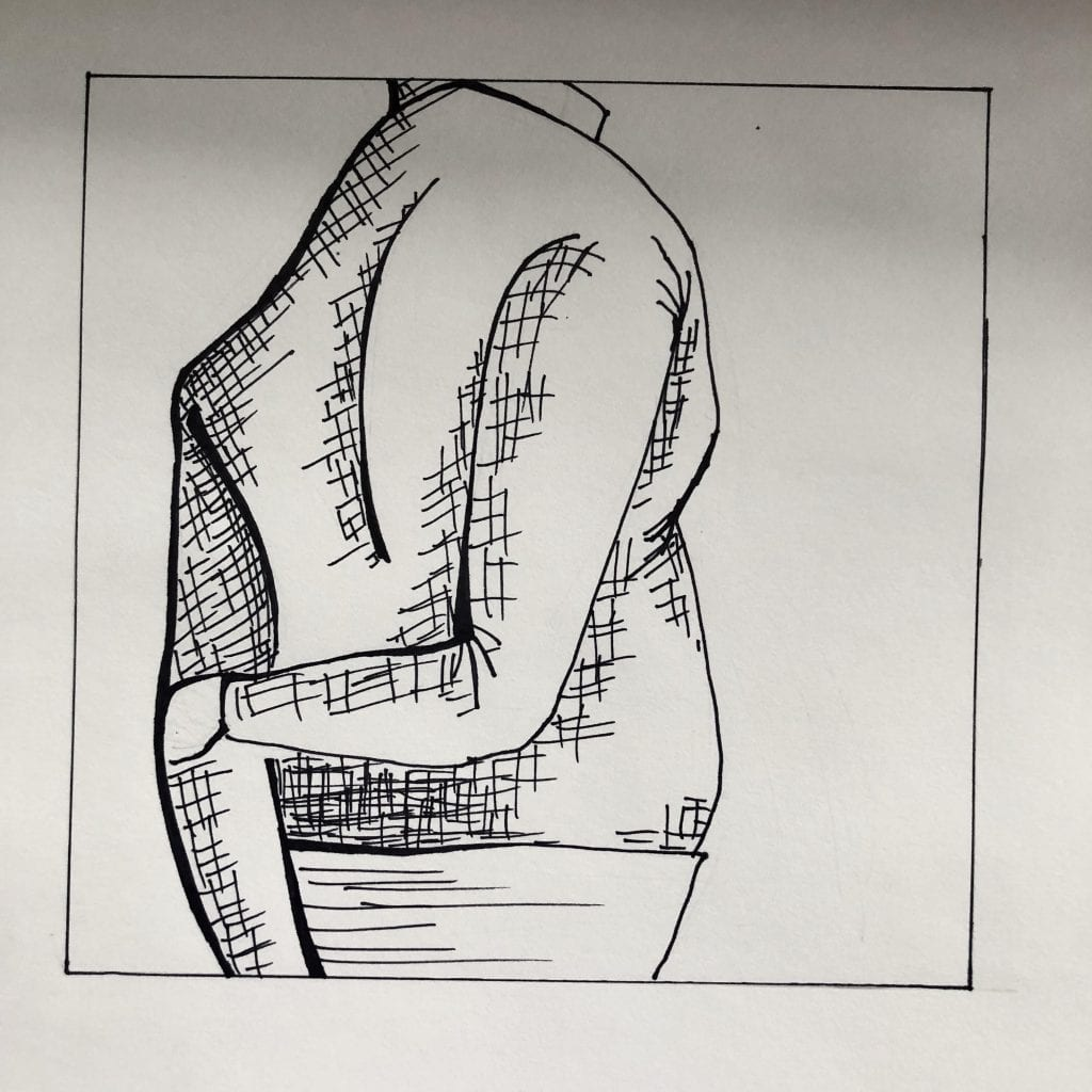 Square Composition Line Drawing