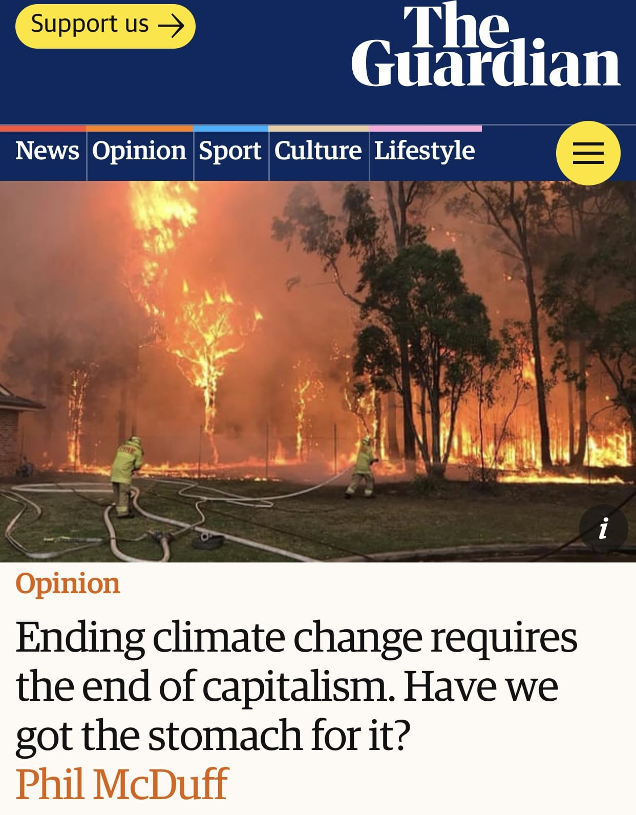 Ending climate change requires the end of capitalism. Have we got the stomach for it? #sustainable system