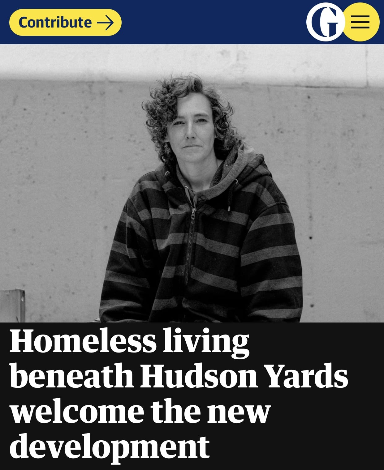 Homeless living beneath Hudson Yards welcome the new development #Sustainable system