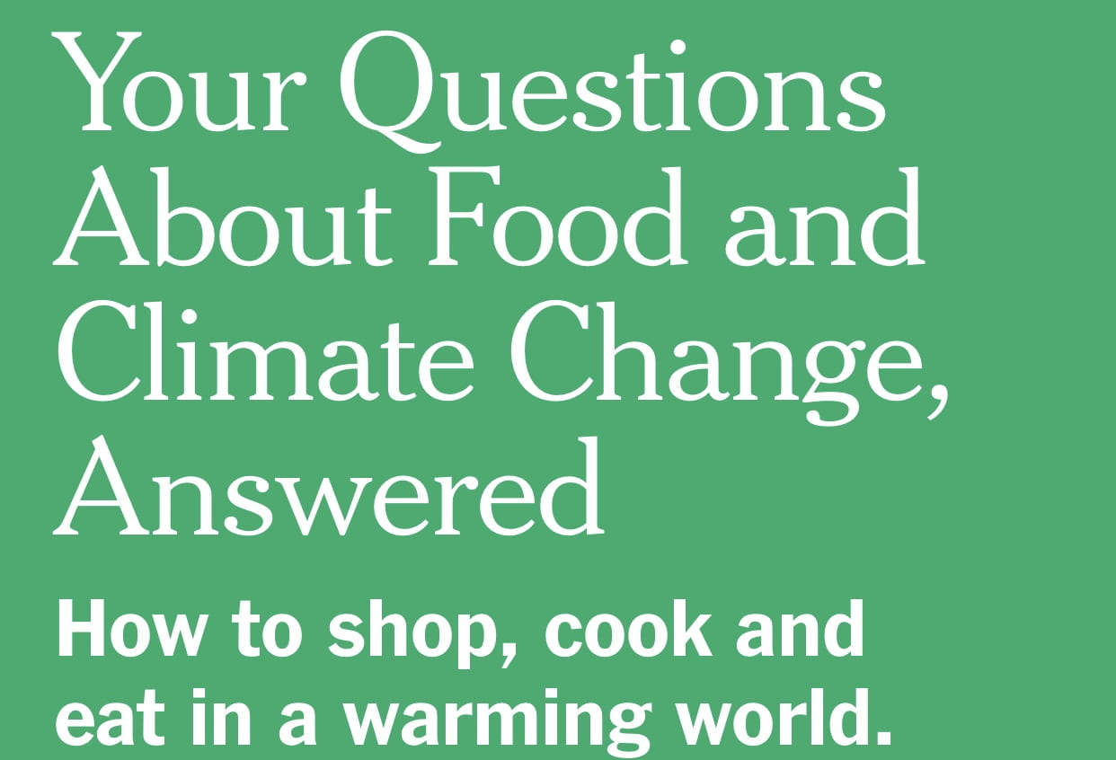 Your questions about food and climate change answered #sustainable system