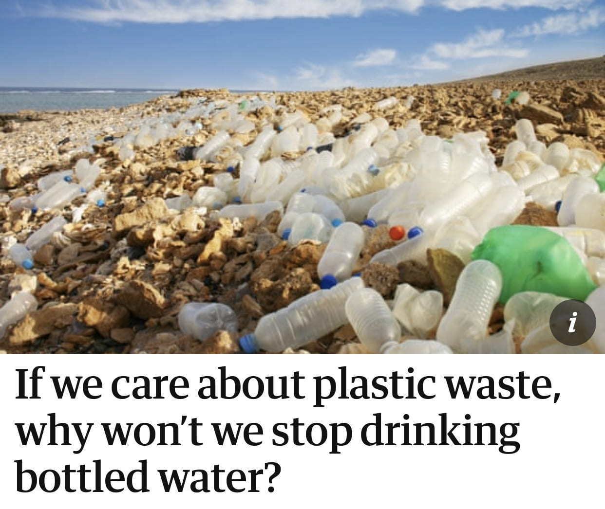 If we care about plastic waste, why won't we stop drinking bottled water? #sustainable system