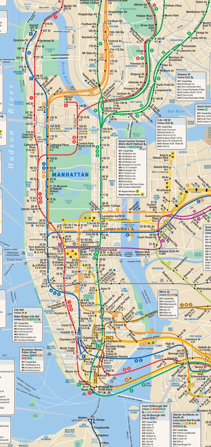 Subway Map Pdf Manhattan.Integrative Seminar 1 Representing The City Representing
