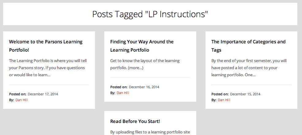 Posts Aggregated by Tag