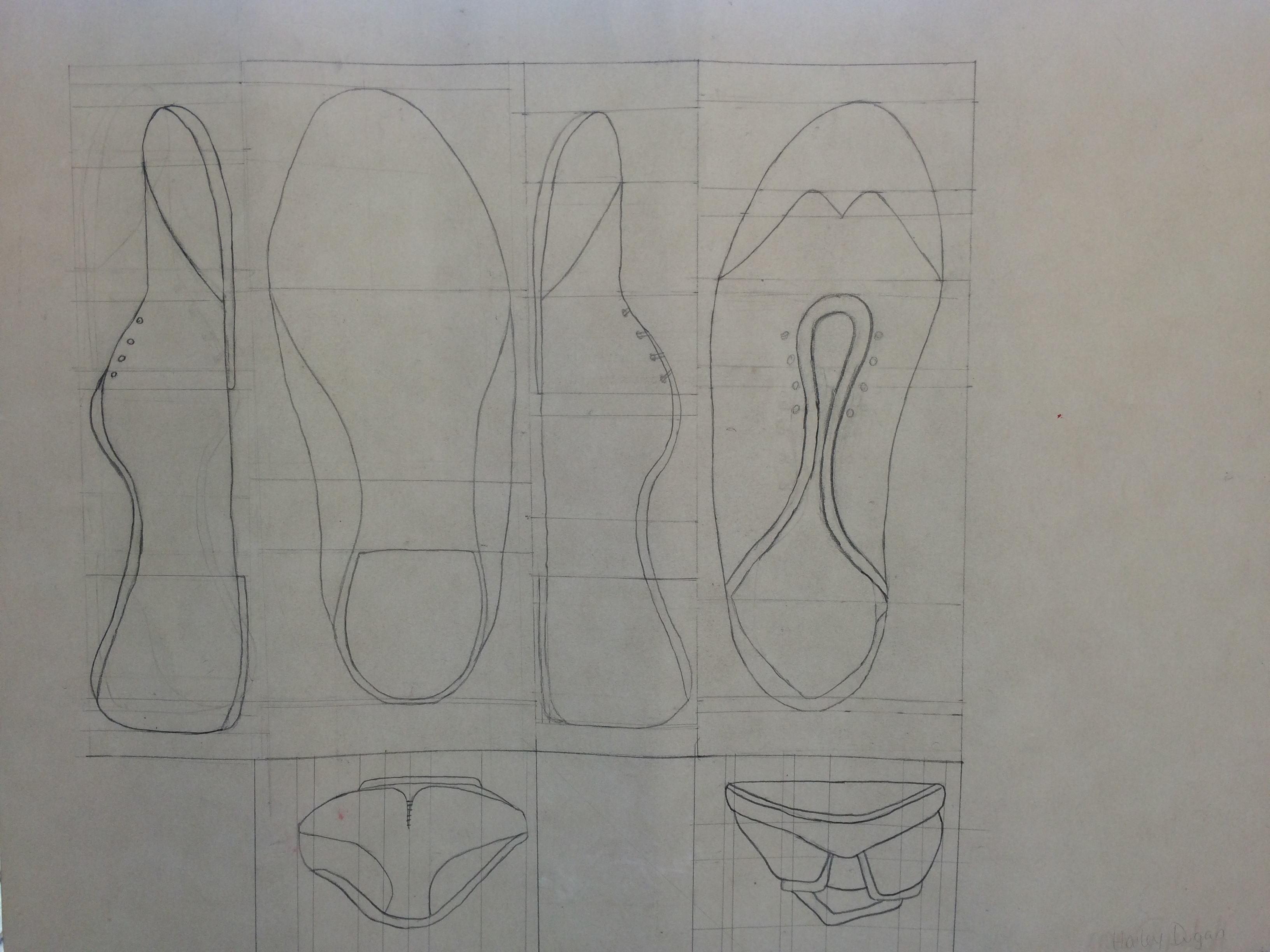 Orthographic Drawing: Shoes