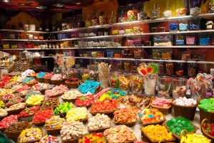 I love candy stores and those colorful candies.